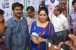 Malayalam Film Actress Ms. Kavya Madhavan at Sami Stall
